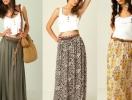 Как выбрать летнюю макси-юбку по типу фигуры