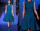 Темно-голубое платье Elie Saab