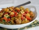 Жаркое из овощей и индейки