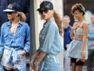 Деним total look: как носить джинсовые комплекты в стиле Рианны