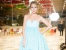 Катя Осадчая ухитрилась выбрать пышное платье, чтобы отвлечь внимание от своего интересного положения