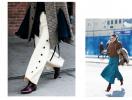 Как носить широкие брюки зимой: 20 street style образов