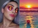 Оптическая иллюзия: талантливый визажист нарисовал тенями на веках правдоподобный закат солнца (ФОТО)