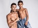Папина копия: Криштиану Роналду снялся в рекламной кампании с сыном (ВИДЕО)