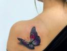 Новый бьюти-тренд: 3D татуировки в виде бабочек