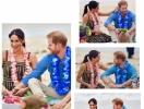 Пляжный день: Меган Маркл и принц Гарри провели время в компании серферов