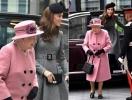 Кейт Миддлтон и королева Елизавета II прибыли в королевский колледж Лондона (ФОТО+ВИДЕО)