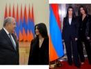 Ким и Кортни Кардашьян встретились с президентом Армении (ФОТО)
