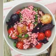 Постный салат с кус-кусом: вкусный рецепт от ведущей шоу