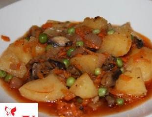 Готовим в пост. Картофель с грибами в горшочках