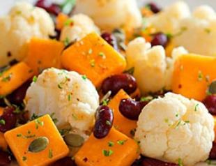 Рецепт постного блюда «Салат из цветной капусты, тыквы и с апельсиновым соком»