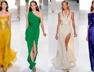 Калейдоскоп платьев от Elie Saab весна-лето 2012