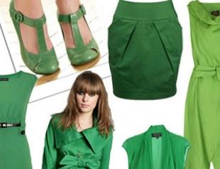 На пике моды: все оттенки зеленого