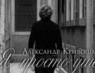 Кривошапко рассказал о разводе в новой песне