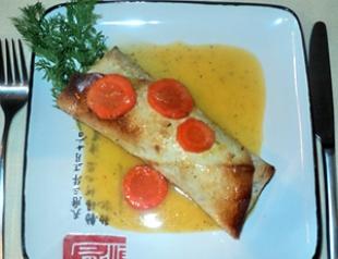 Мастер-класс: лосось в лаваше с апельсинами