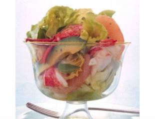 """Салат с лобстером и авокадо """"Искушение"""""""