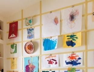 Используем детские рисунки в интерьере: 16 идей