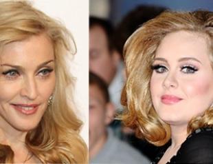 Мадонна планирует спеть с Адель