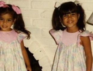 Сестры Кардашьян выложили в Сеть свои детские снимки