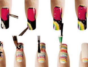 Делаем креативные рисунки на ногтях. Фото