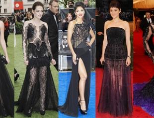 Звездный тренд: прозрачные платья