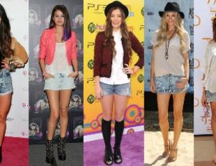 Звездный тренд: короткие джинсовые шорты
