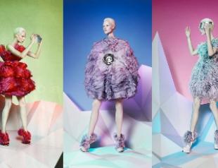 Рекламная кампания Alexander McQueen в стиле оригами