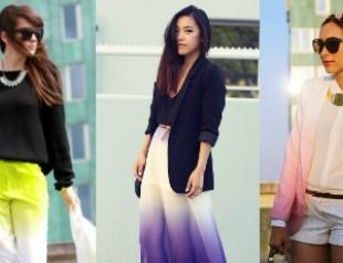 Модный тренд: градиент – переход цветов на одежде