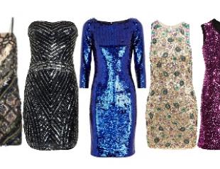 Новогодние платья в пайетках 2013