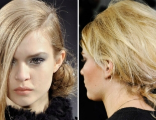 Зима-2013: модные прически для волос средней длины