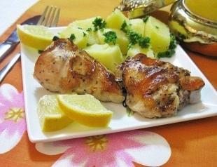 Курица, запеченная с лимоном. Фоторецепт