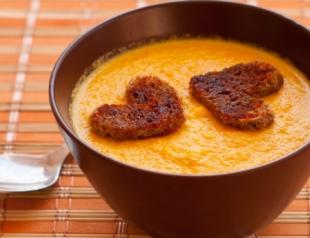 Крем-суп из имбиря и моркови