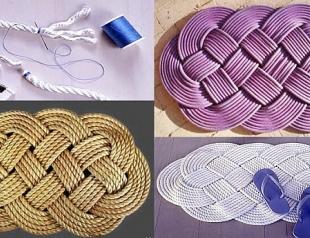 Мастер-класс: плетеный коврик для ванной