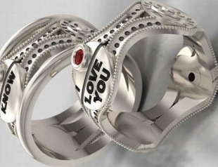 """Выпущены парные обручальные кольца в стиле """"Звездных войн"""""""
