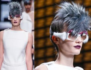 Очки с меховой оправой от Fendi