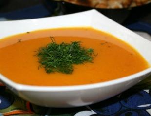 Морковный суп-пюре с имбирем
