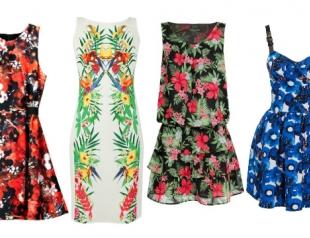 Модные платья в цветочек сезона весна-лето 2013