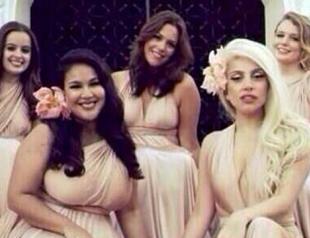 Леди Гага стала подружкой невесты. Фото