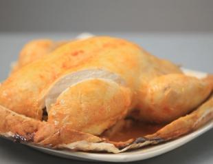Курица в тесте из соли. Видео-рецепт