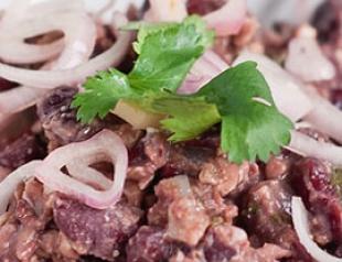 Рецепт постного блюда «Лобио из красной фасоли»