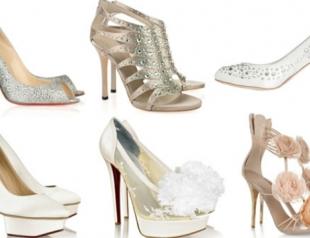 Модная свадебная обувь 2014