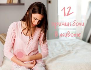 Двенадцать причин боли в животе