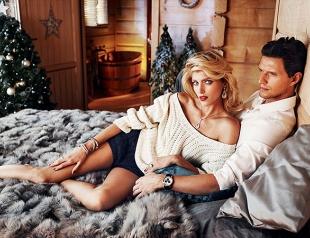 Аня Рубик и Саша Кнежевич снялись в рождественской фотосессии