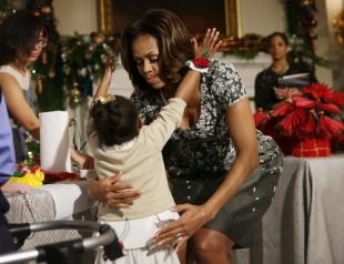 Мишель Обама украсила Белый дом к Рождеству