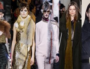 Тренд зимы 2013-2014: меховой шарф
