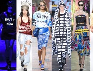 Тренд сезона весна-лето 2014: надписи и слоганы на одежде