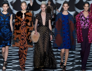 Неделя моды в Нью-Йорке: Diane Von Furstenberg осень-зима 2014-2015