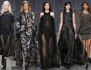 Неделя моды в Нью-Йорке: Vera Wang осень-зима 2014-2015