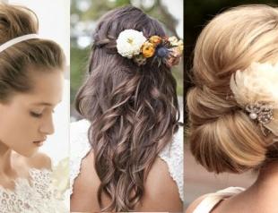 Модные свадебные прически весна-лето 2014