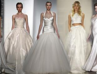 Неделя свадебной моды в Нью-Йорке весна 2015: лучшие платья